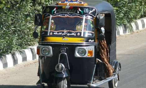 Tuk-tuk in Egypt. Photo taken November 11, 2011. (photo by Ad Mesken)