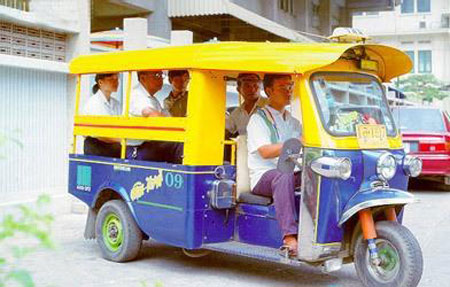 Tuk tuk is used quite common in some countries in Southeast Asia, but in