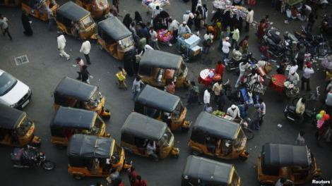 Autorickshaws much like these in central Hyderabad, India, are scheduled for a February 2013 pilot-program launch in the trendy Melville suburb of Johannesburg, South Africa, March 6, 2012.