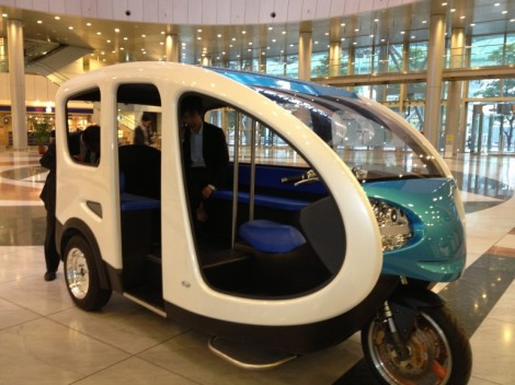 Terra Motors' electric tuk-tuk aimed at markets in Southeast Asia (photo via Gizmag)