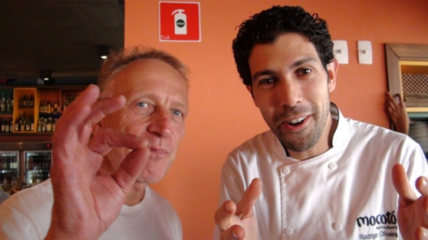 Will Studd approved the cooking of chef Rodrigo Oliveira, at Mocotó Restaurant, which offers Northeastern specialty dishes