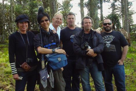 Cheese Slices team: Bonnie Studd, Jonathan Hoong, Will Studd, Roger Price, Michael Robinson e Joaquin Rodriguez, no Monte Negro, Rio Grande do Sul