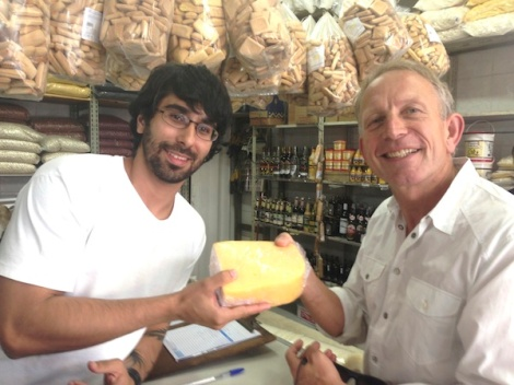 Coalho cheese on the street with Northeastern products in SP